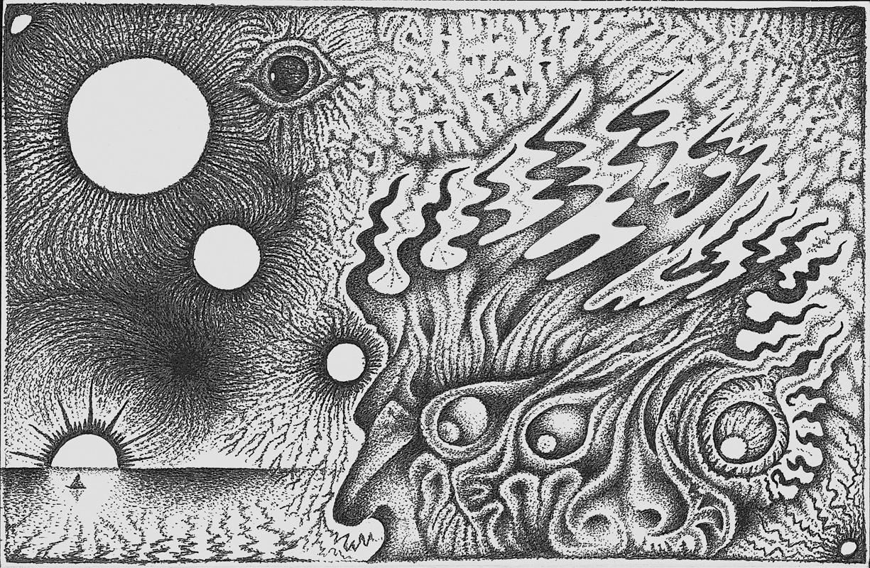 "Black & White 4 2002 8 1/2"" x 5 1/2"" G2 Pen B & W"